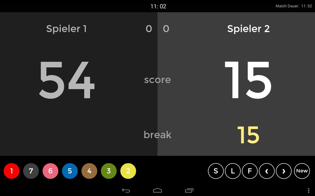 Screenshot Punktevergabe nach Ball